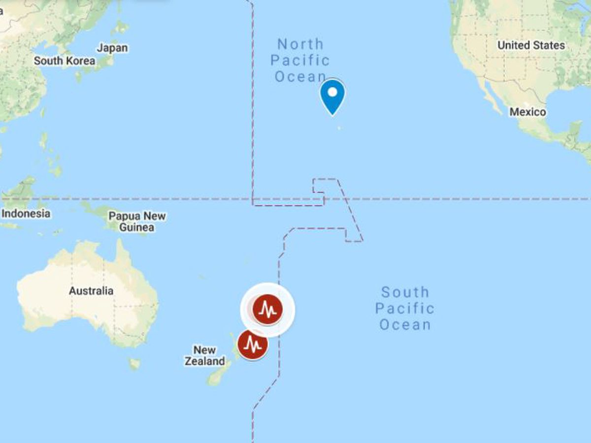 Tsunami watch canceled for Hawaii following large earthquake off New Zealand