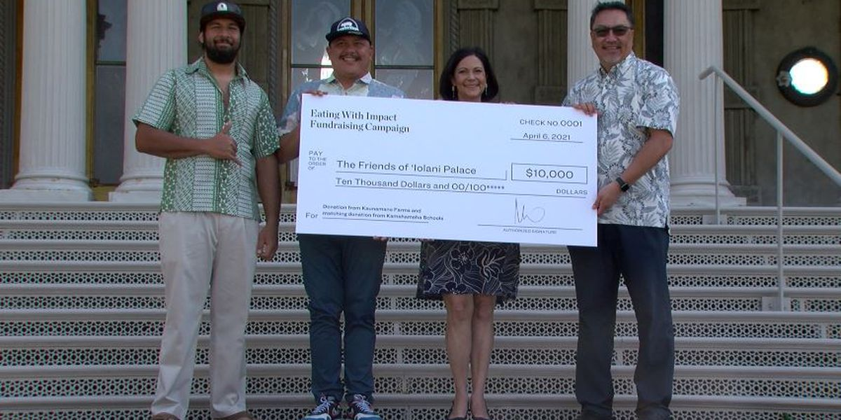Financially struggling Iolani Palace gets large donation from farmer