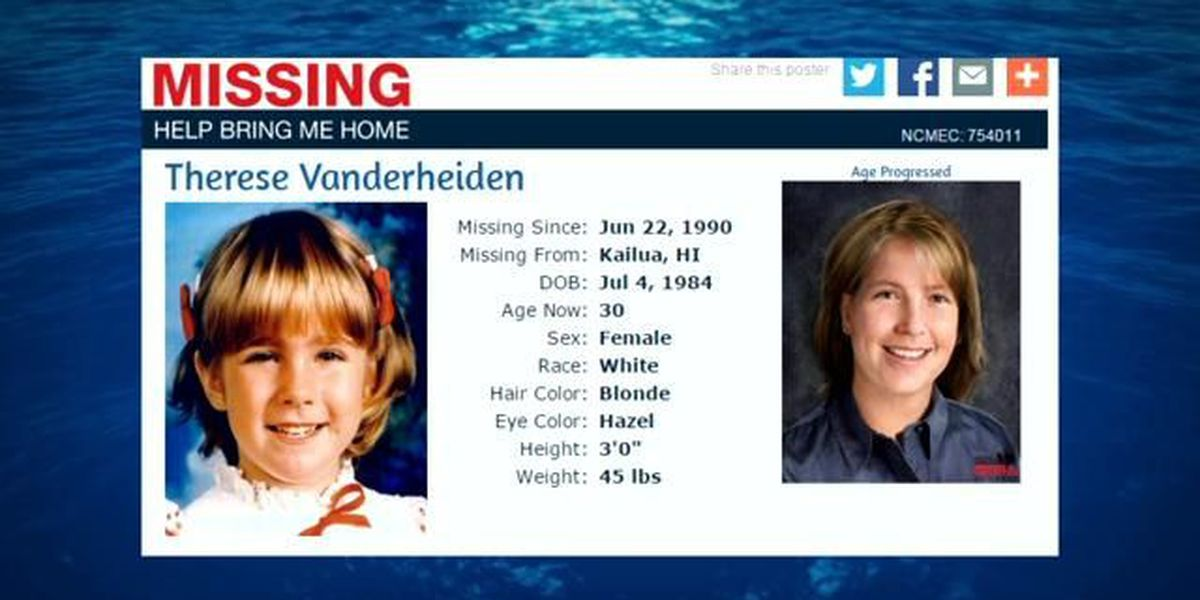 Search continues 25 years later for Kailua girl kidnapped by mother