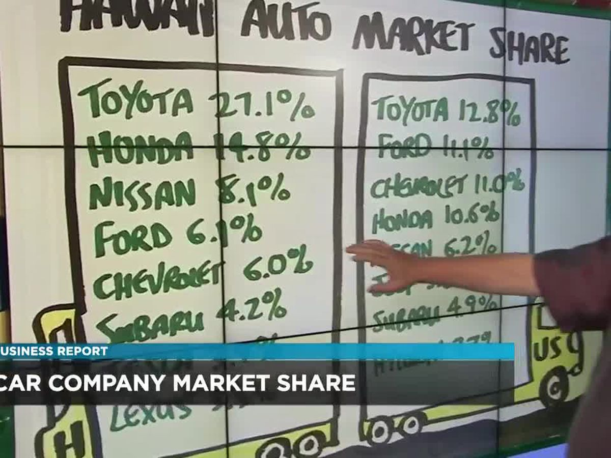 Business Report: Car company market share in Hawaii