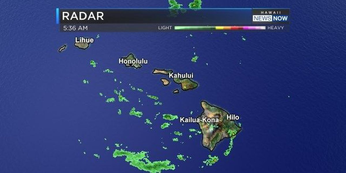 Forecast: Some parts of Hawaii may continue to see heavy showers