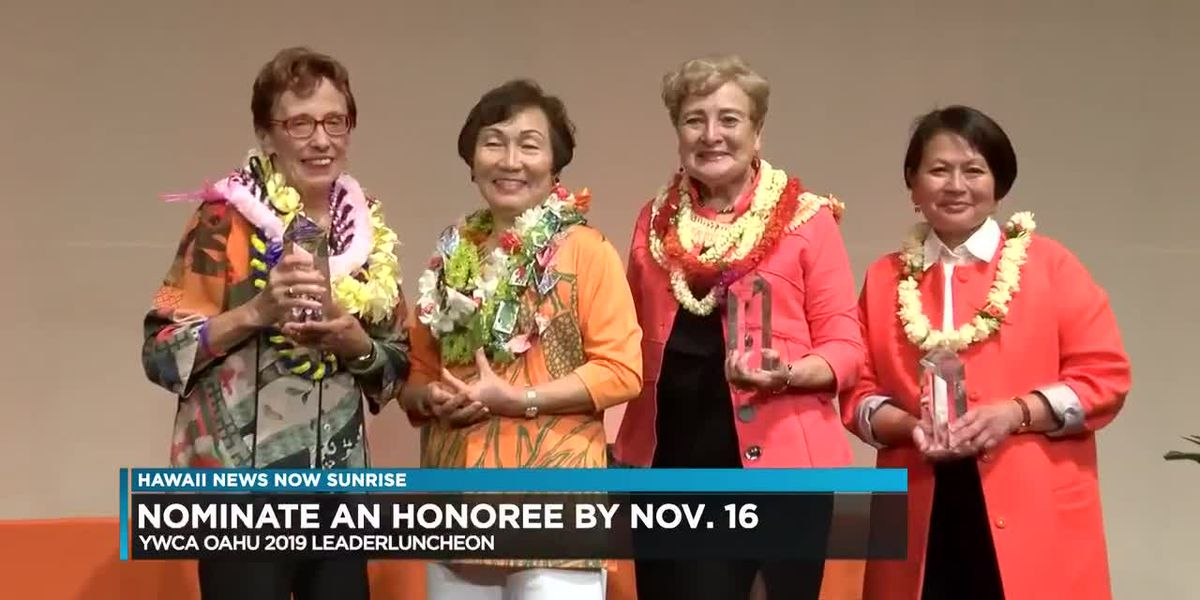 YWCA Oahu seeks honorees for 2019 Leader Luncheon