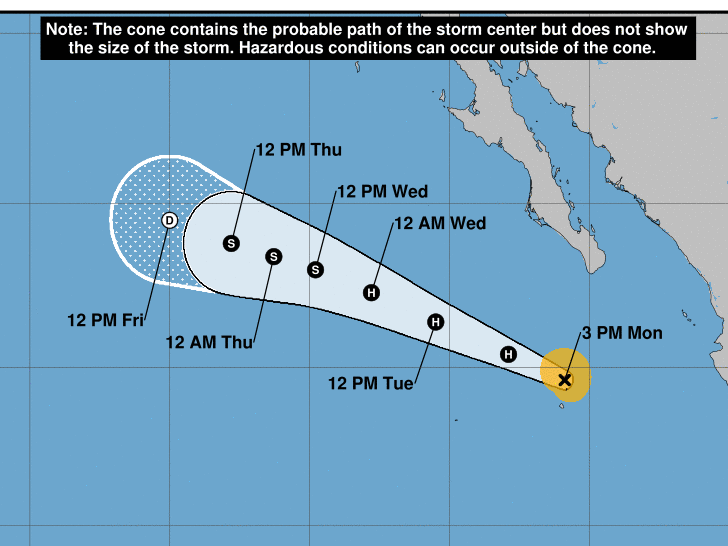 As Hurricane Elida churns far east of Hawaii, forecasters eye a closer disturbance