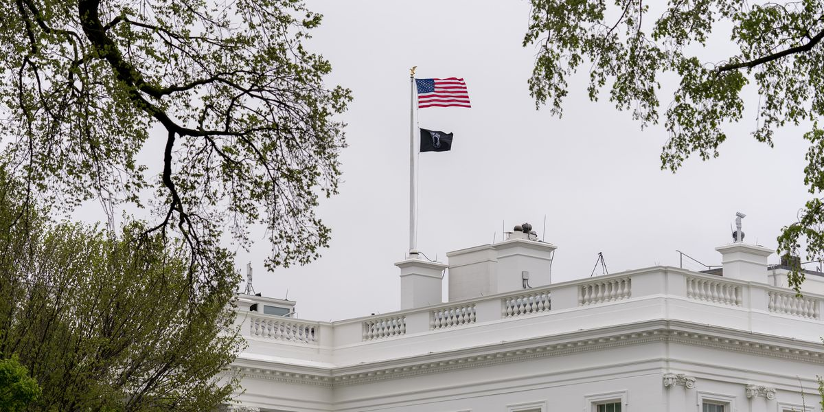 Biden returns prisoner-of-war flag to perch atop White House