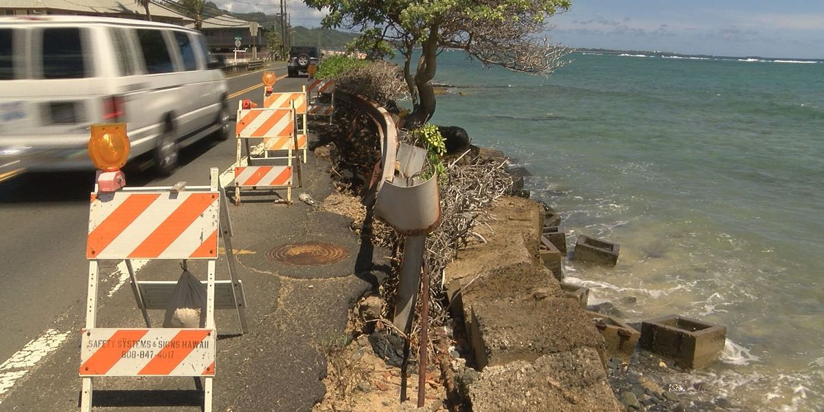 Residents calls for emergency repairs to crumbling Hauula highway