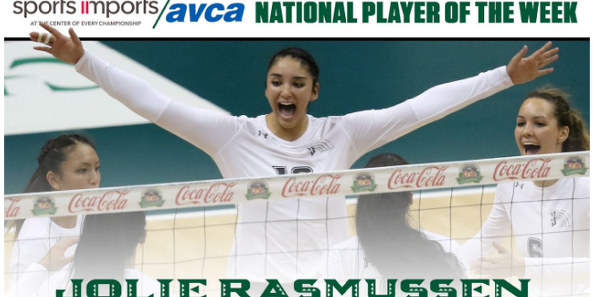 Rasmussen notches Sports Imports/AVCA National Player of the Week Honors