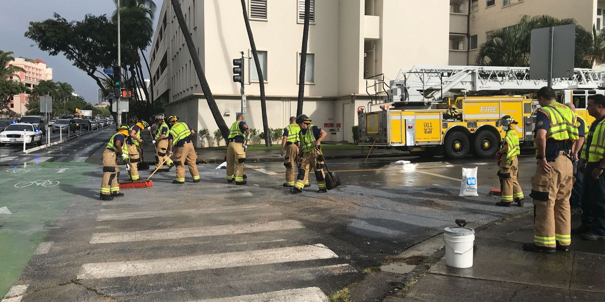 Cooking oil blamed for road closure on Ward Ave.