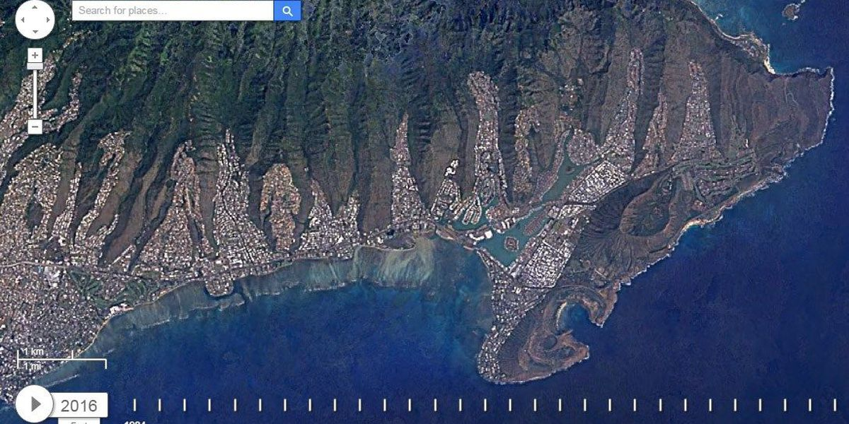 Google Earth project shows 30 years of Hawaii's growth from space