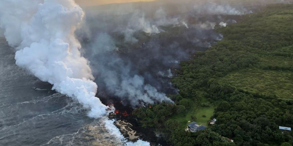 Lava continues pouring into ocean, creating new health hazard