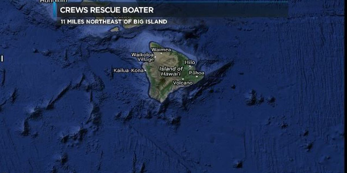 Boater rescued 11 miles off Big Island