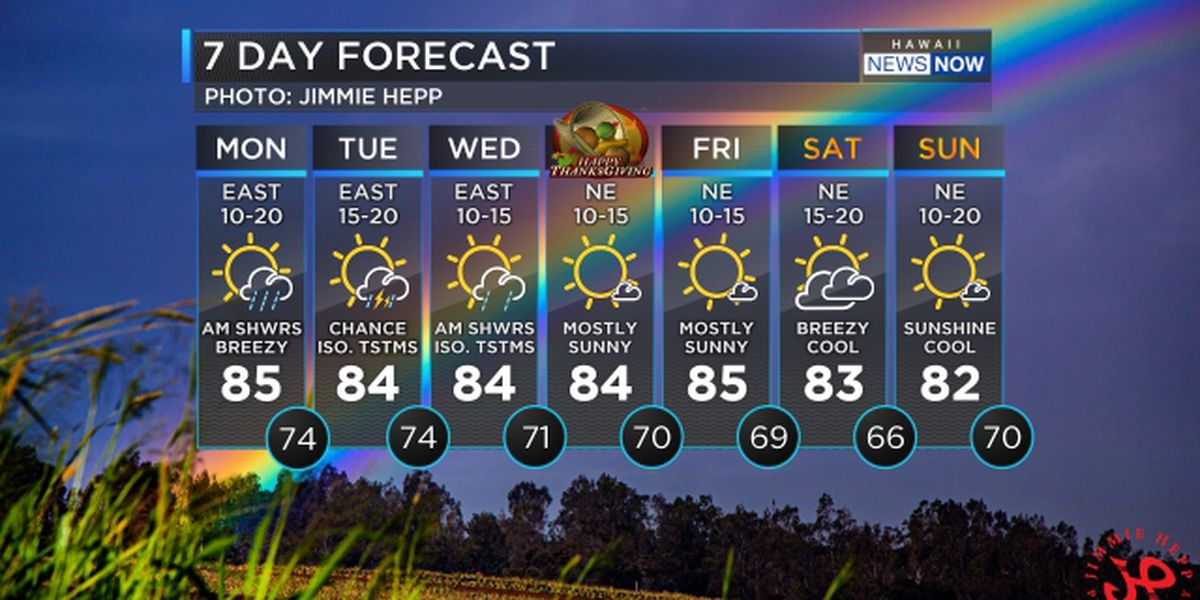 Forecast: More wet weather, maybe even some t-storms, ahead of Thanksgiving holiday