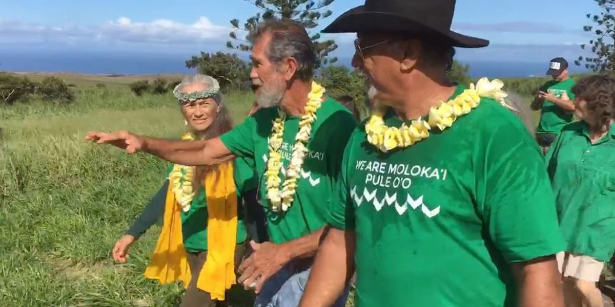 With 55K acres up for sale, Molokai residents unite to send a message