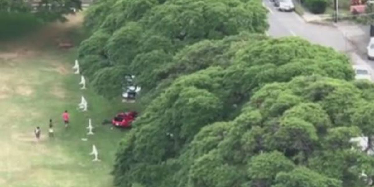 1 critically injured in crash along a busy Honolulu street; 2 others also hurt