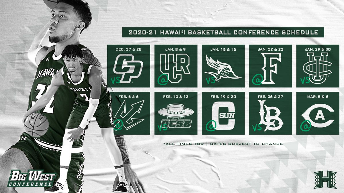The Big West Conference announced 2020 schedule for men's and women's basketball