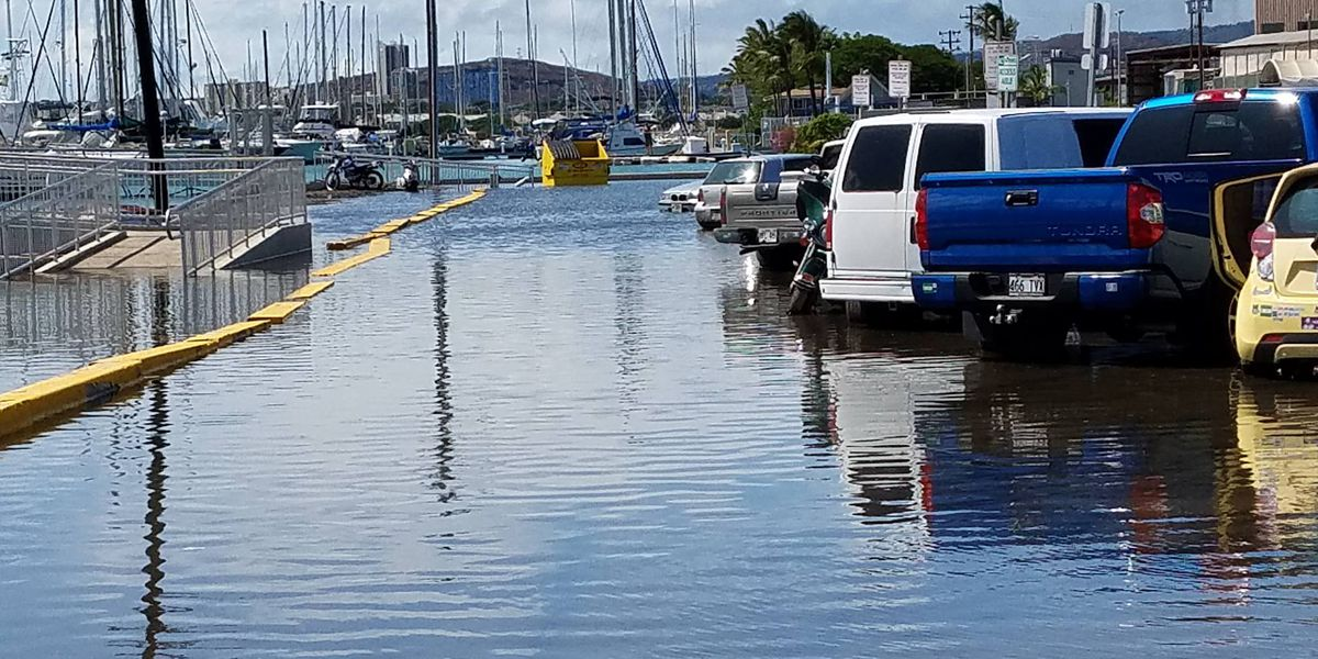Another round of king tides roll in, setting record high sea levels