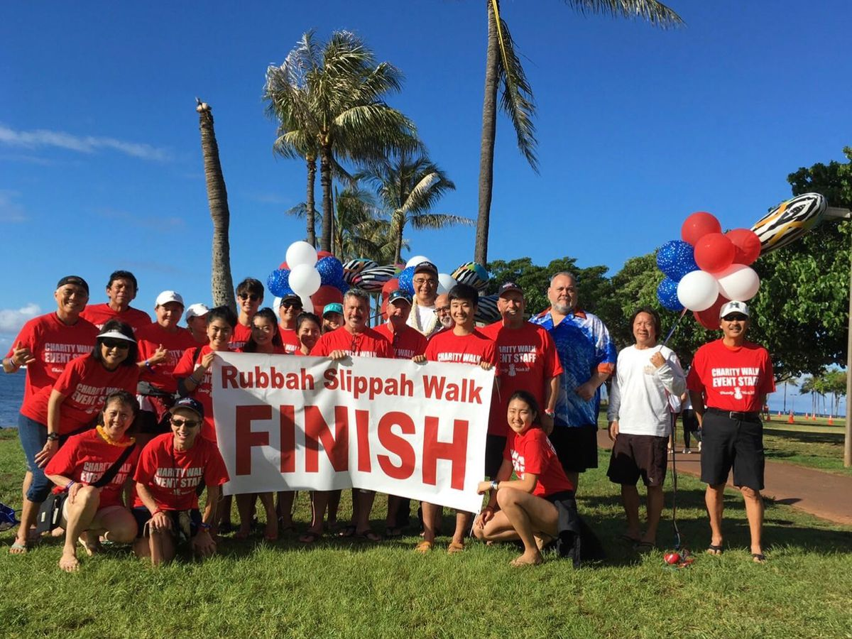 Wounded Warrior Ohana hit the pavement in rubber slippers for a good cause