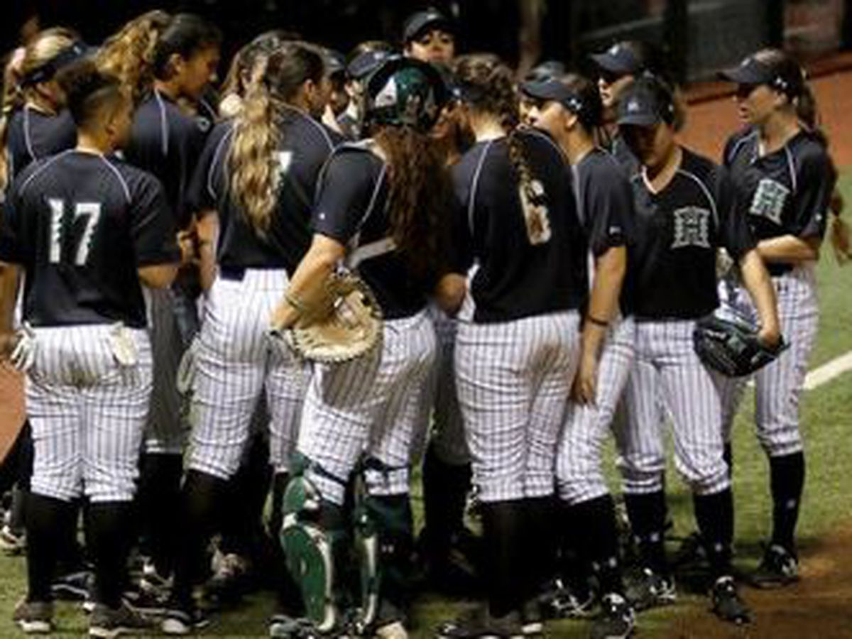 Hawaii softball vs. BYU cancelled due to rain in Las Vegas