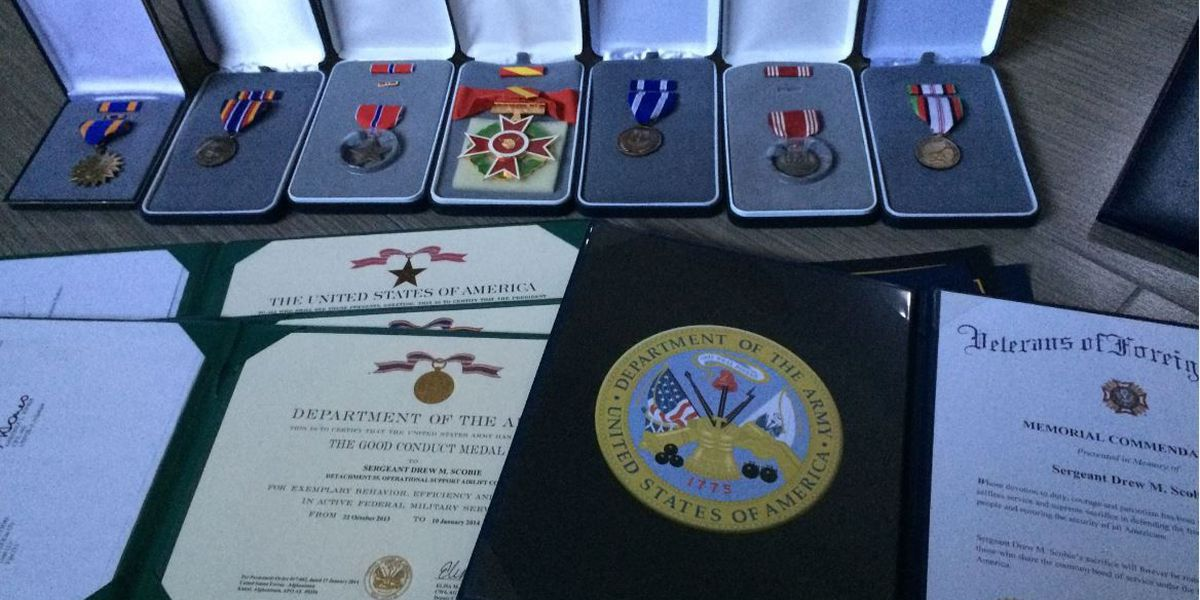 Fallen soldier's stolen military medals recovered