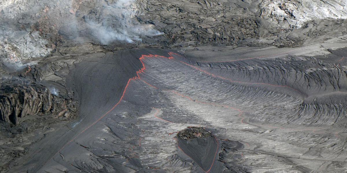 Lava lake continues to rise in Kilauea's Halemaumau Crater