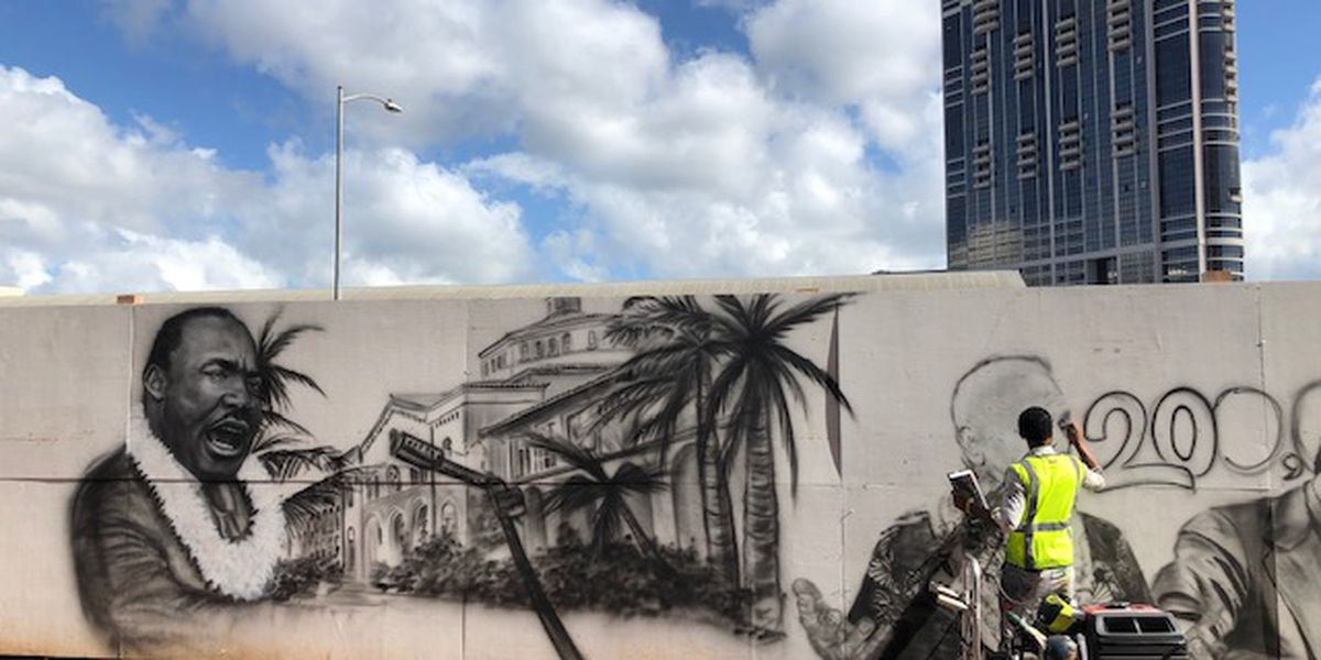 A new mural tells the story of Kakaako — and it's getting rave reviews