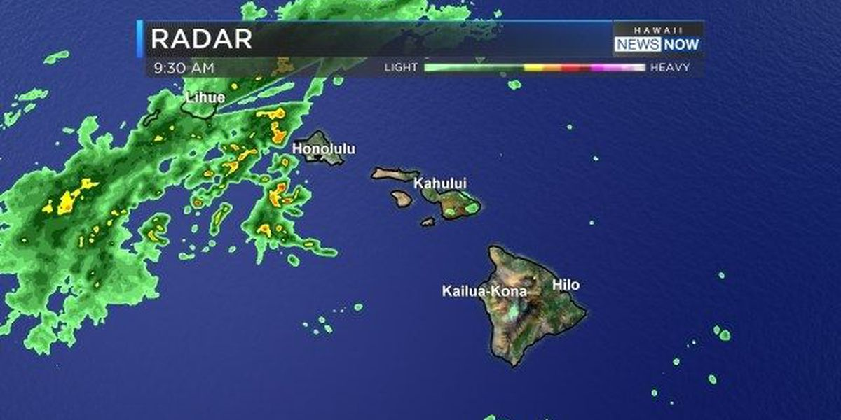 Forecast: Showers moving in over Kauai, Oahu for Easter weekend