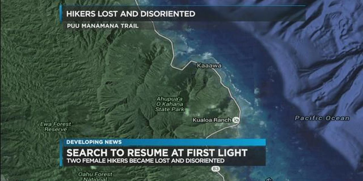 Lost hikers on Puu Manamana Trail find their way out