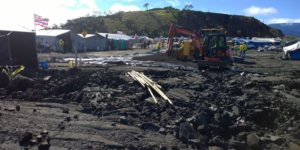 As promised, TMT protesters move tent blocking Mauna Kea Access Road