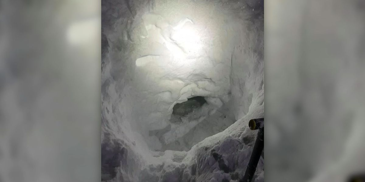 Teen snowmobiler builds snow cave to wait for rescue