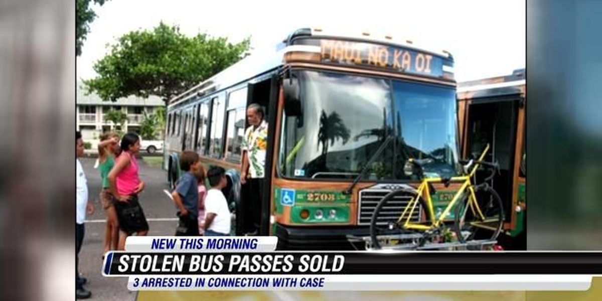 3 charged in stolen Maui bus pass online sales