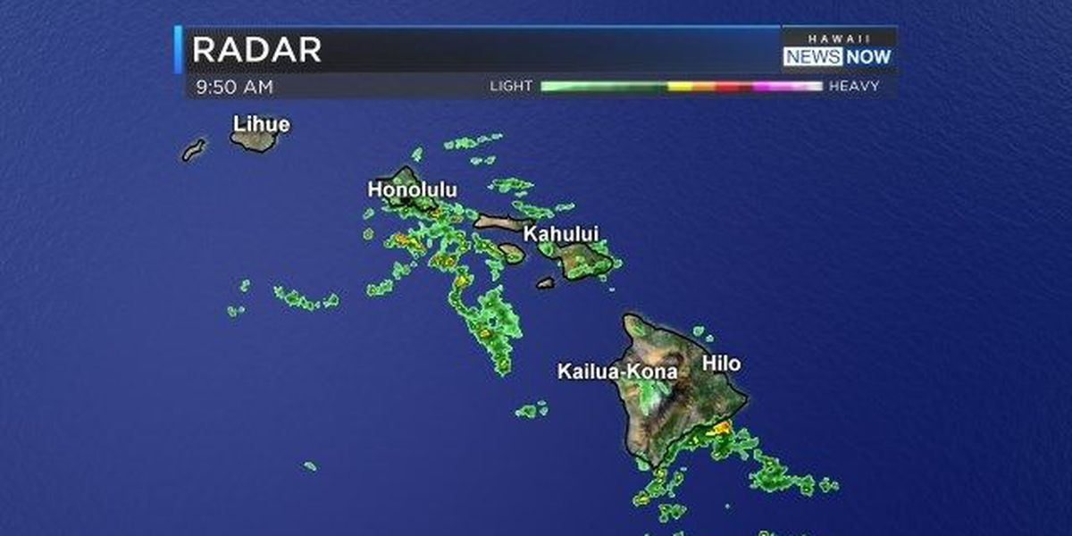 Drier weather, trade winds returning to start new work week