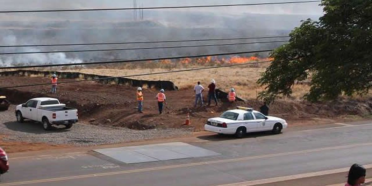 Fire in Lahaina prompts closure of portion of Lahainaluna road