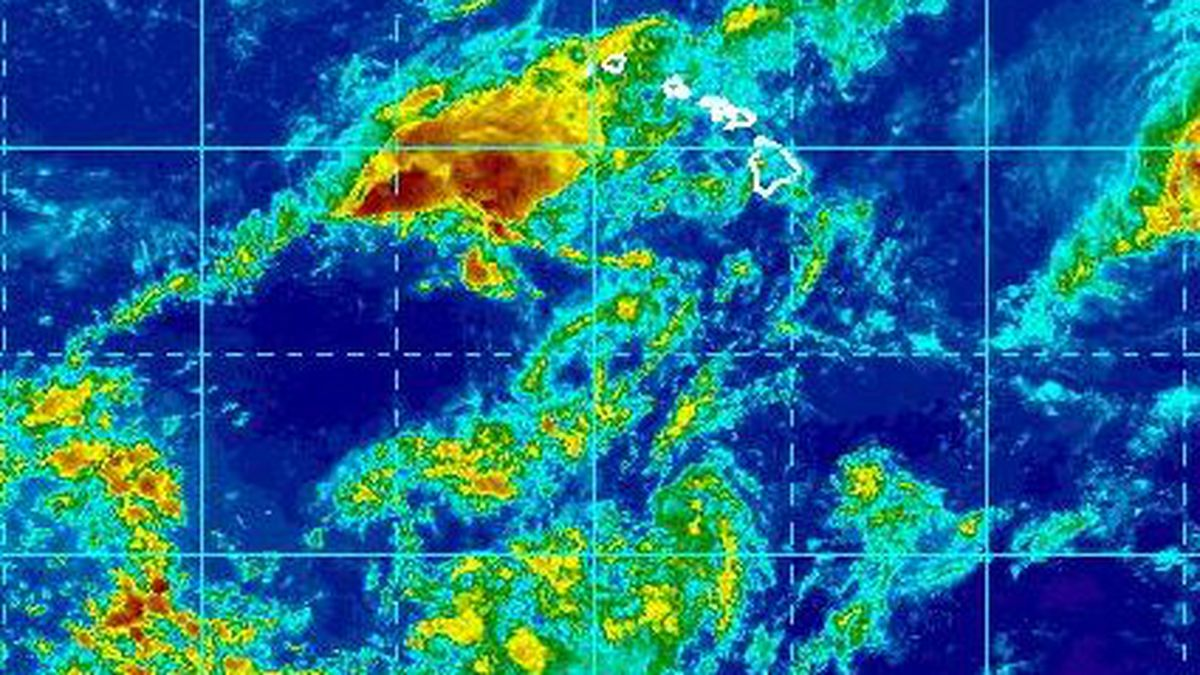 Erick weakens to a tropical depression as it moves away from Hawaii