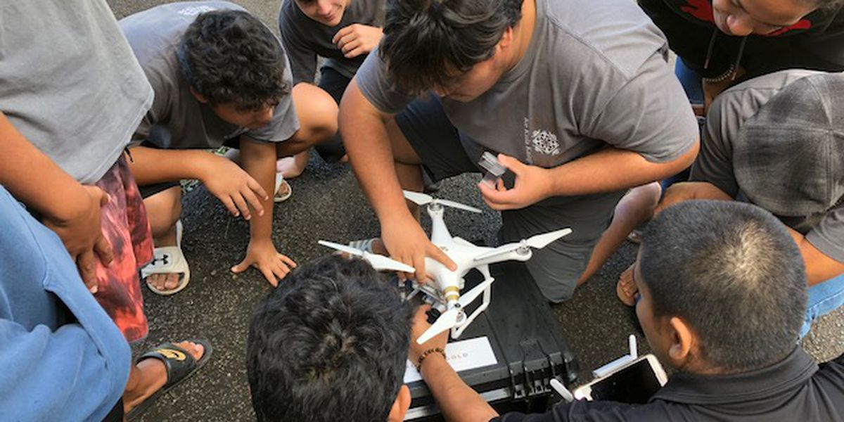 The newest Hawaiian-language course for high schoolers: How to fly a drone