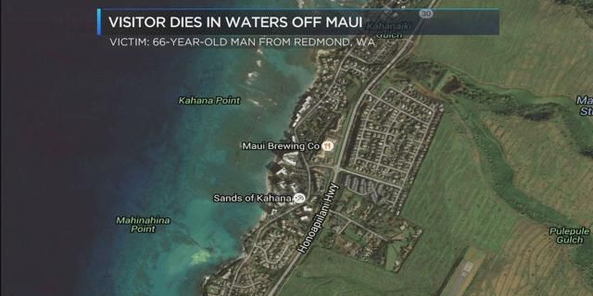 Washington visitor dies in apparent drowning off Maui