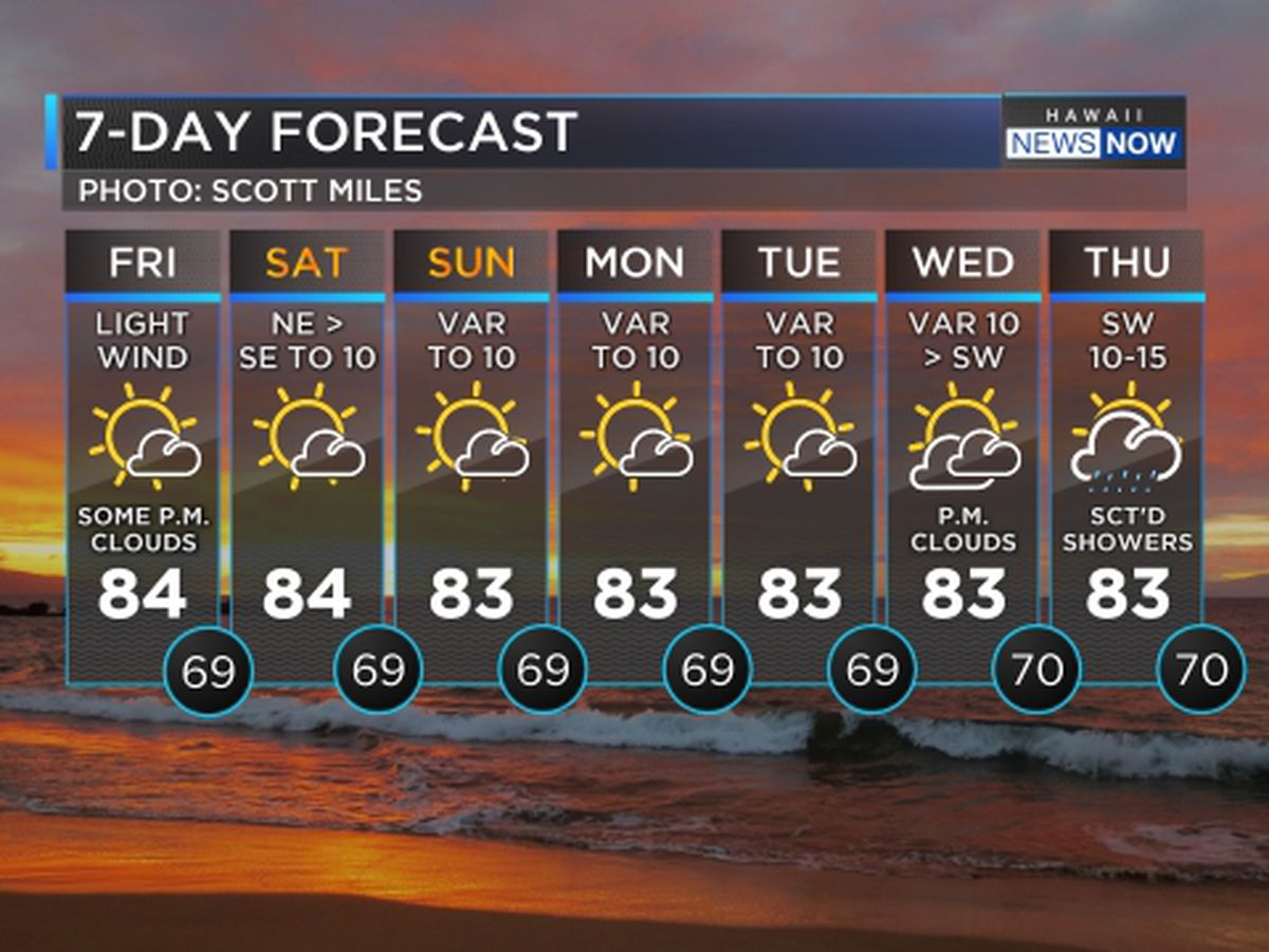 Light winds persist into next week, giant swell on the way