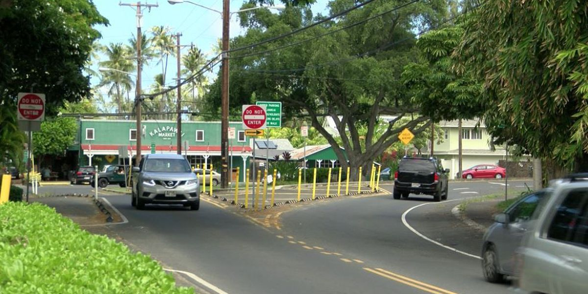 The city hopes a new roundabout will ease traffic in Kailua