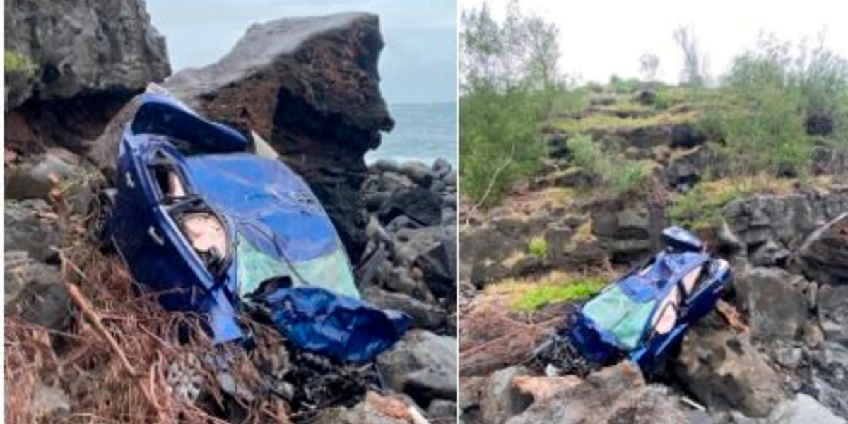 Woman dead after vehicle dives over a 200-foot Maui cliff