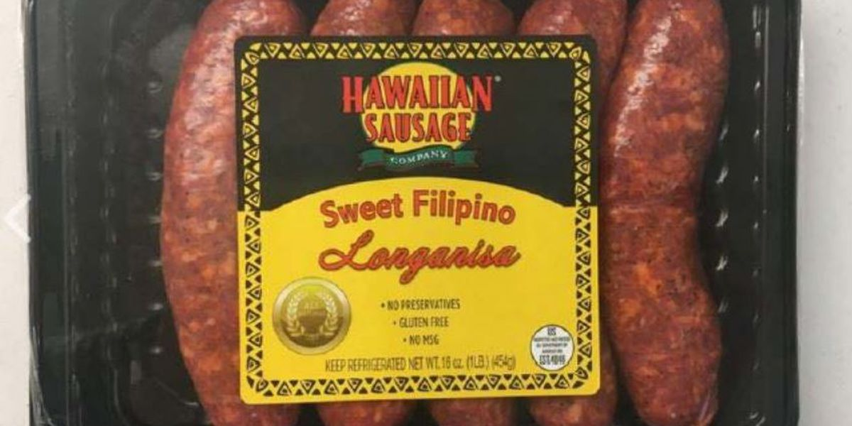 'Gluten free' sausages sold in Hawaii recalled because they have wheat