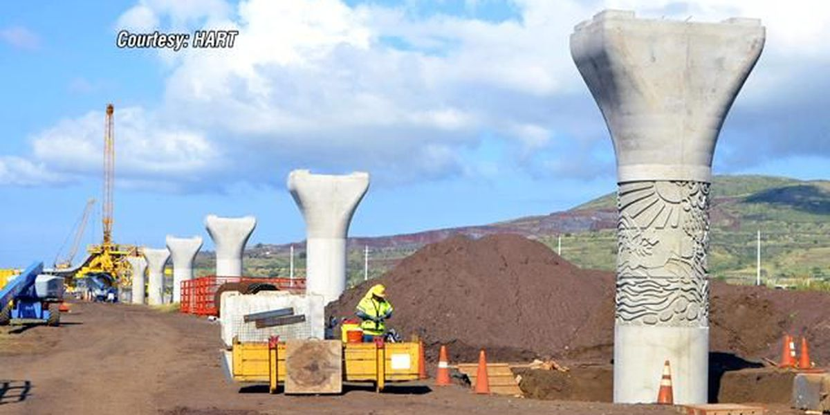 First rail column design completed at East Kapolei station