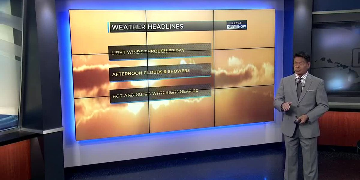 Forecast: More heat and humidity with light winds