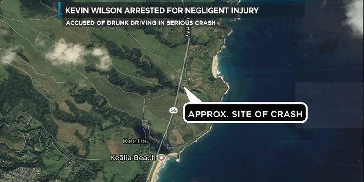 Man arrested after Kauai crash that injured 5-year-old girl, 2 others