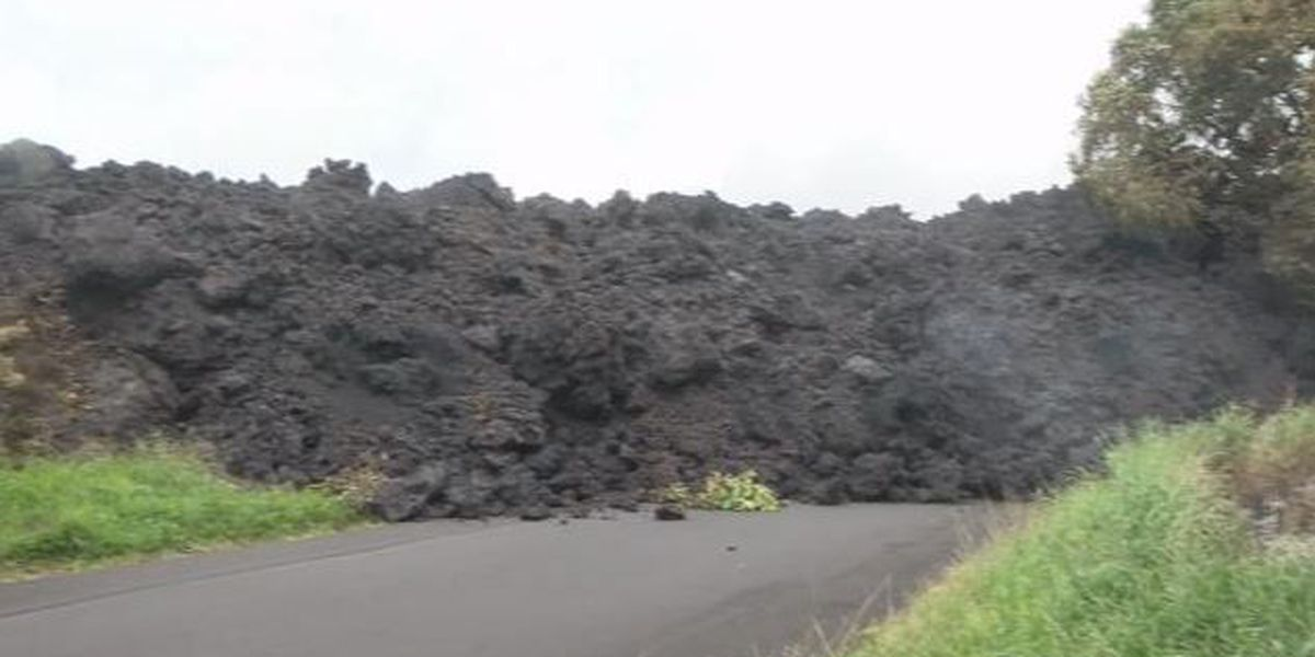 Two-story lava wall cuts off parts of Highway 137, impacting thousands