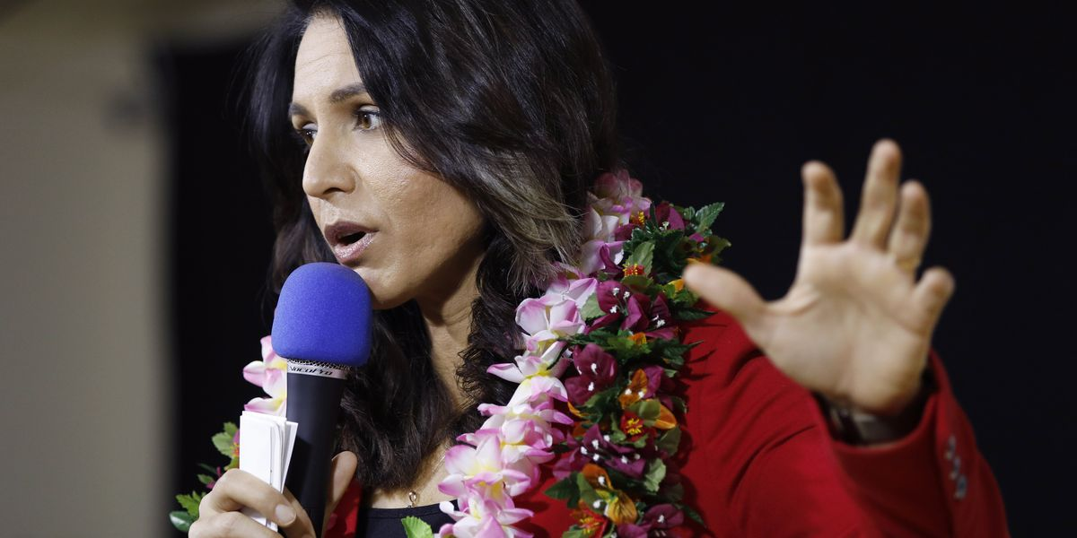 Campaigning in Vegas, Gabbard calls for end of 'wasteful wars,' nuclear tension