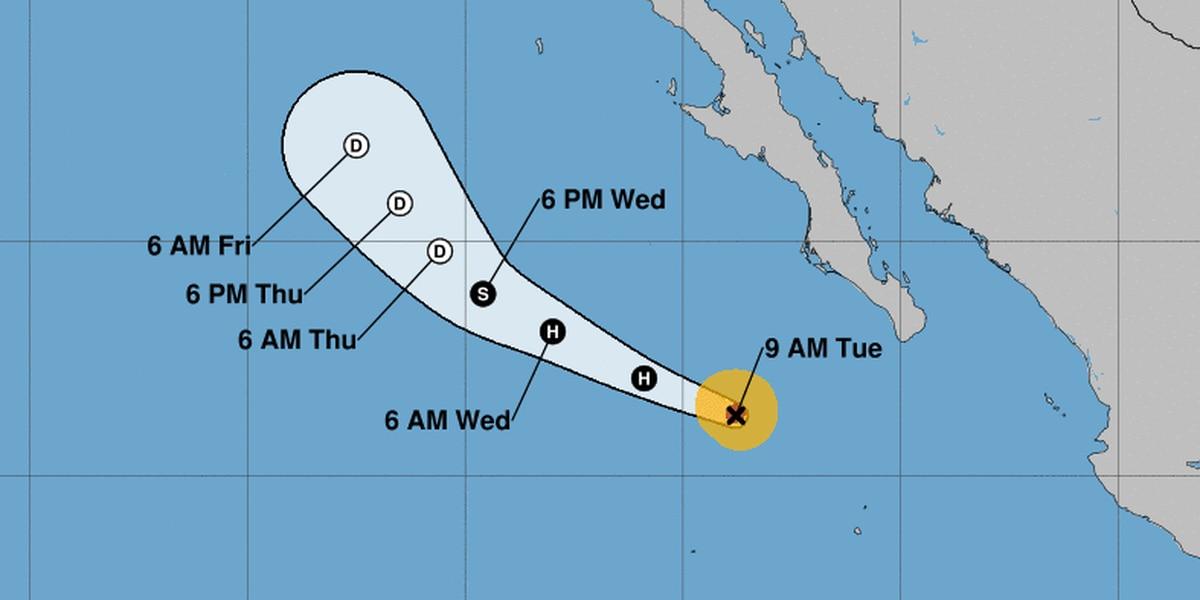 As Hurricane Elida churns far east of Hawaii, forecasters eye a closer disturbance