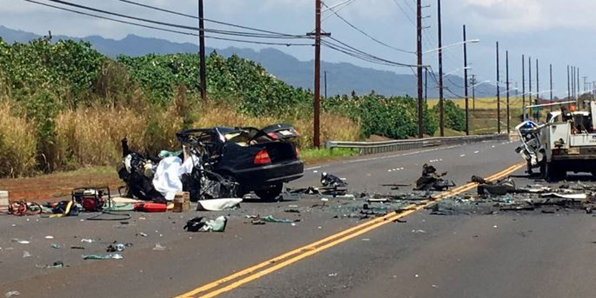 1 dead in traffic crash on Kunia Road