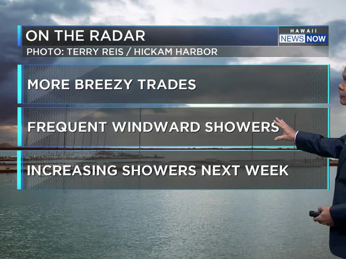 Forecast: More wet weather, breezy trades ahead