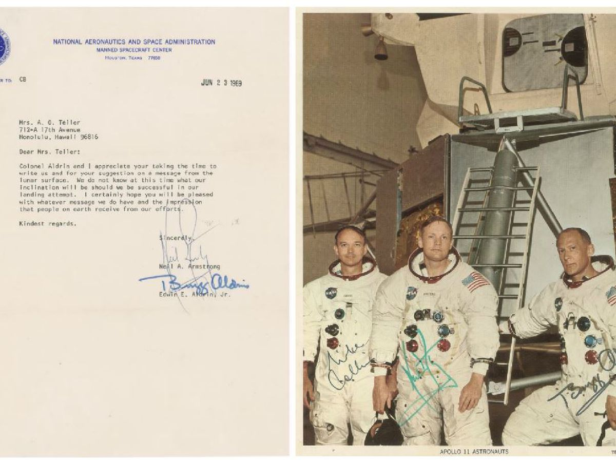 Kaimuki woman's 1969 letter with Neil Armstrong, Edwin Aldrin up for auction