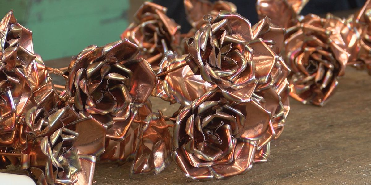 A gift that will last a lifetime: Students make Valentine's Day roses in metal