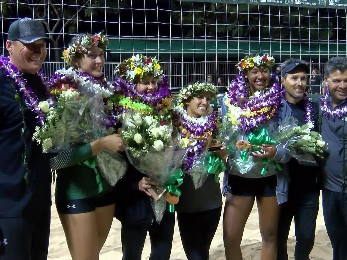 SandBows say Aloha on senior night