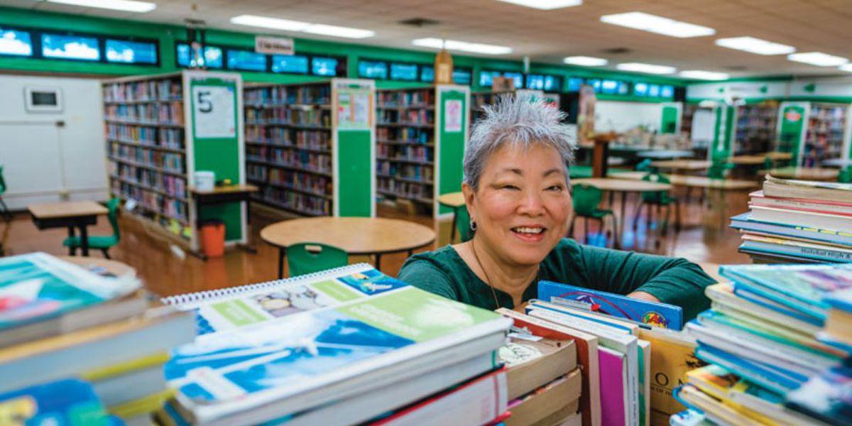 Molokai High School's tireless librarian earns national recognition